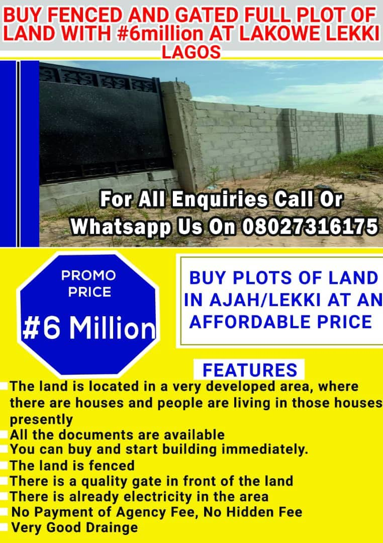 OUR FULLY FENCED AND GATED LAND FOR SALE AT LAKOWE IN AJAH AXIS