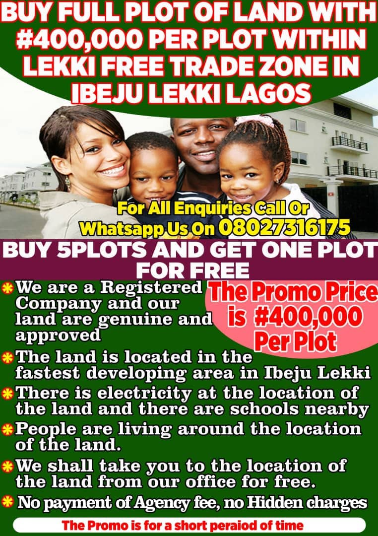 OUR ESTATE WITHIN THE LEKKI FREE TRADE ZONE IN IBEJU LEKKI